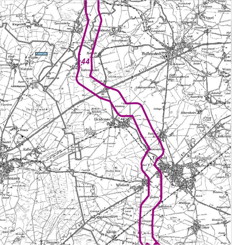 Geplanter Trassenverlauf um Heidenau